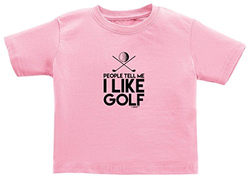 Price comparison product image Baby Shower Gifts People Tell Me I Like Golf Juvy T-Shirt 5/6 Pink