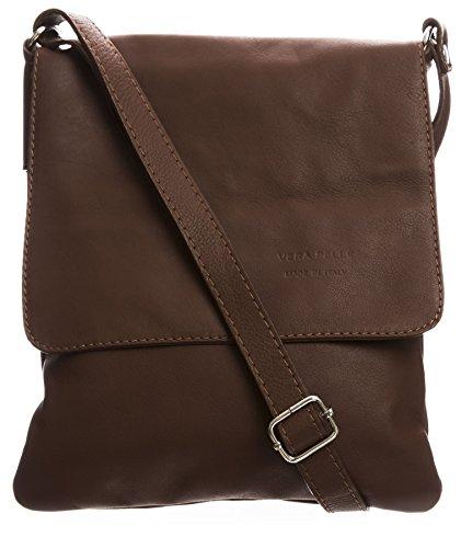 Big Handbag Shop - Borsa a tracolla donna (Dark Tan (BH365))