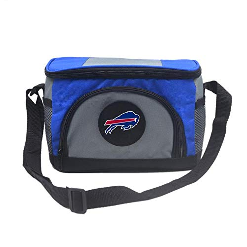 Unisex NFL Embroidered Insulated Lunch Bag Cooler - Pick Buffalo Bills