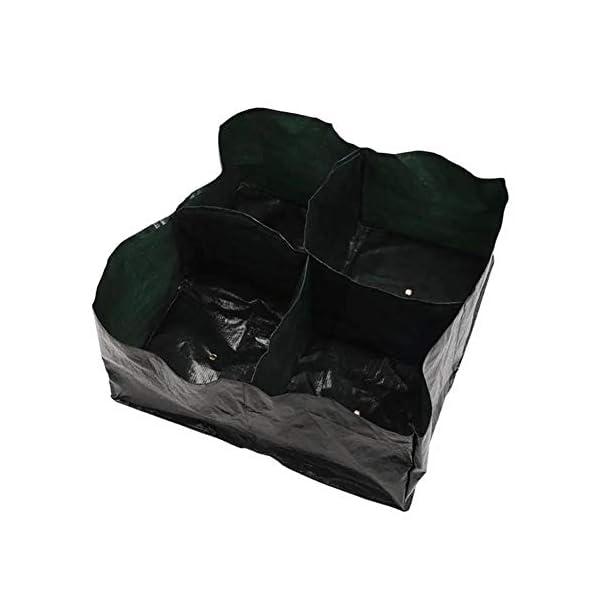 Ouqian Sacchi per Piante Orto Planter Bag 4 Tasche Growing Bag Contenitore Pouch Piante da Vaso Semina per Il… 1 spesavip