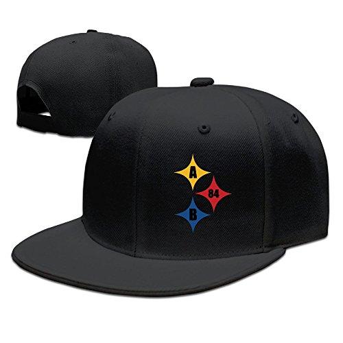 Brown AB 84 Football Logo Man Woman Baseball Caps Black (8 Colors)