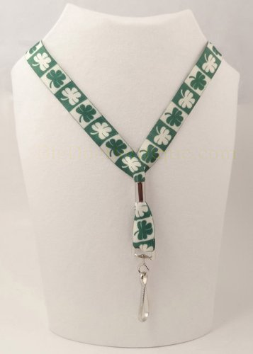 Shamrock Lucky Clover Neck Lanyard - St Patrick's Key or Badge ID ()