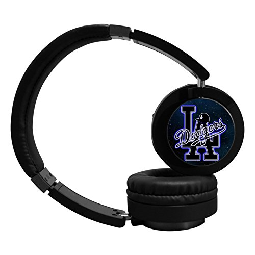 Los Angeles Dodgers Wireless Bluetooth Headphone Surround Sound Gaming Headset for PC Playstation 4 On Cable Controls Sports Performance Pads Rotating Ear Cups Light Weight Design for Teens and Adults (Halloween Store Los Angeles)