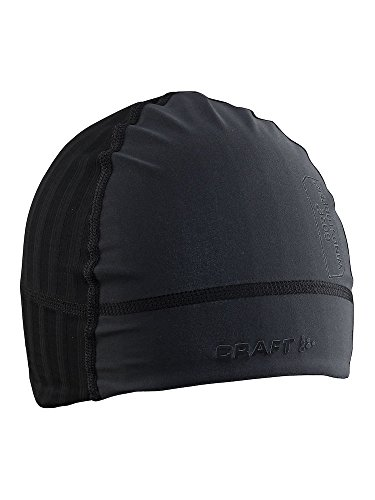 Craft Sportswear Active Extreme 2.0 Windstopper Lightweight Fitted Training Beanie Hat, Black, Small