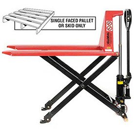 Manual High Lift Skid Jack Truck, 27 x 45, 2200 Lb. Capacity by Global Industrial