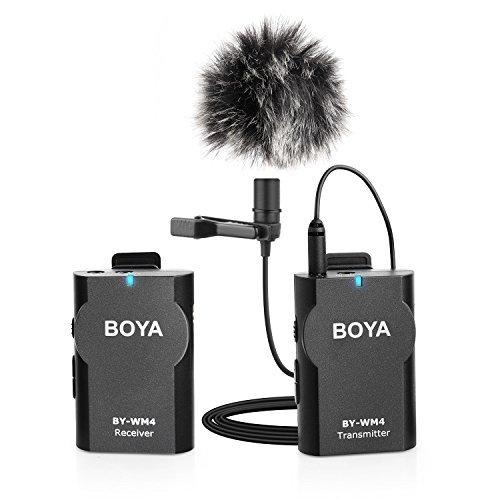 BOYA BY-WM4 2.4GHz Wireless Lavalier Lapel Mic, Omnidirectio