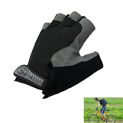 Wicking Shockproof Bike Half Finger Glove Outdoor Sports Gloves Cycling Short Glove