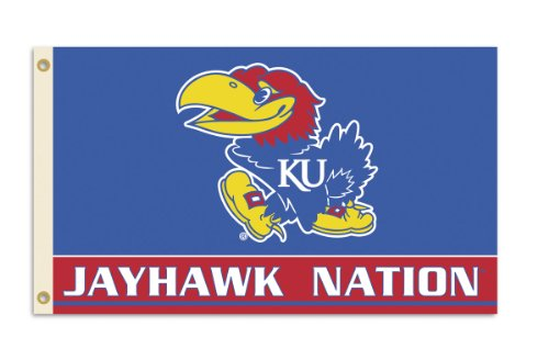 NCAA Kansas Jayhawks 3-by-5 Foot Nation Flag With Grommets