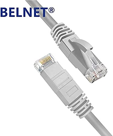 ShineBear Belnet High Speed CAT6 RJ45 Patch Ethernet LAN Cable Network Cable 0.33M//1M//2M//3M//5M//6M//10M//15M//20M for Router Computer Laptop Cable Length: 20M, Color: Light Gray