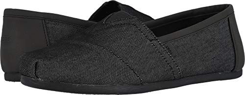 - TOMS Men's Classic Heavy Denim Black Ankle-High Fabric Slip-On Shoes - 10M