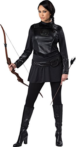 Fun World Women's Plus-Size Warrior Huntress Costume, Black, 2XL ()