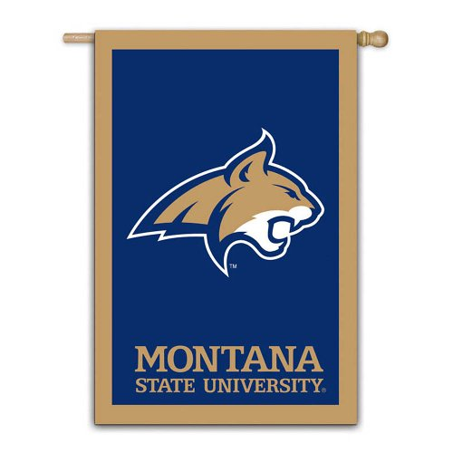 Fans With Pride Montana State University Bobcats Applique House Flag