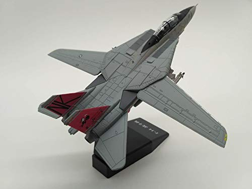 (GreenSun 1:100 Scale F-14 Tomcat Plane Model Alloy Diecast U.S Navy Carrier-Based Aircraft Fighter F14 Toys for Kids Gifts)