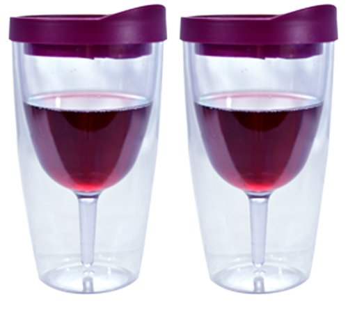 Southern Homewares Wine Tumbler - 16oz Insulated Vino Double
