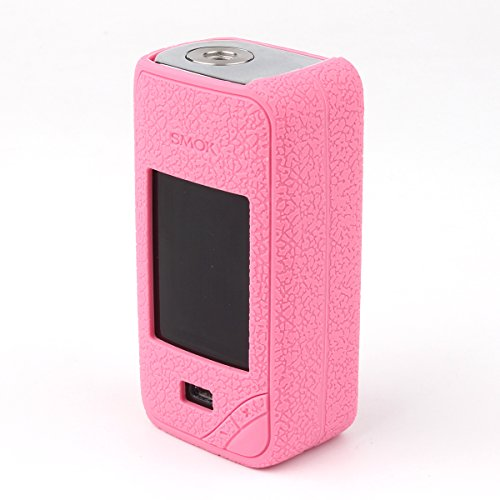 Pink Skin Case - Smok X-priv case, CEOKS Skin Rubber Cover for Smok Xpriv 225W TC Mod Box Protective Silicone Texture Case Skin wrap Shield, Anti-Slip & Durable (Pink)