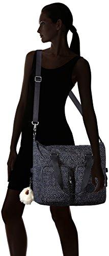 Kipling Damen Tomiko Schultertasche, 50x36x14 cm Stripe Quilt