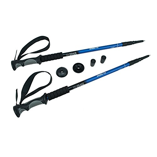 Poles - 1 Pair All-Terrain Trail Trekking Poles/Walking Sticks/Aluminum Anti-Shock (Blue All-Terran Trekking Poles - 1 Pair) ()