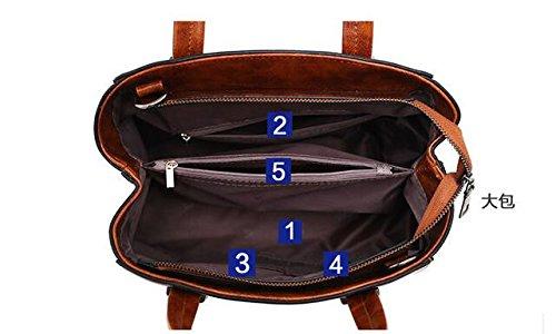 Bolsos Retro Brown Bolsos Meaeo Marea Azul Tipo Match Bolsa Dama Marino Bolsa Bolsos Todos Minimalista 5qHx6twxZn