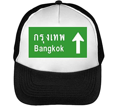 Hombre Gorras Sign Negro Beisbol Bangkok Snapback Blanco pCxERqv