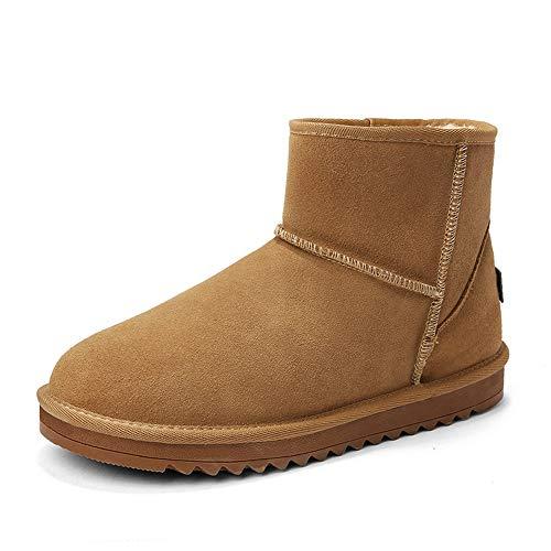 Outsole Contracted Casual Pour Jaune Fleece Faux Shoes La À Bottes Home Hommes Inside Neige Mode Chenjuan De Hiver wzHq8Tv