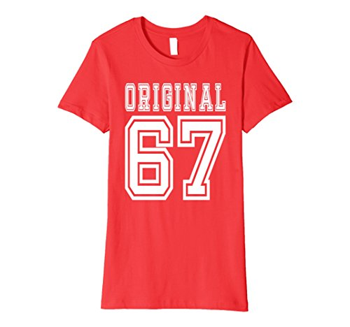Womens 1967 T-shirt 50th Birthday Gift 50 Year Old B-day Present F Small Red