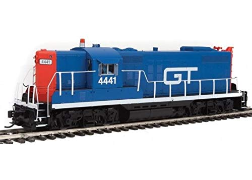 EMD GP9 - LokSound Select DCC & Sound -- Grand Trunk Western #4441 (blue, red, - Ho Trunk Scale Grand