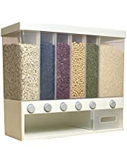 EnJoCho Whole Grains Rice Bucket Wall-Mounted Rice Storage Tank, Pressed Out Rice,Wall-mounted dry food dispenser,Storage tank,Storage Container