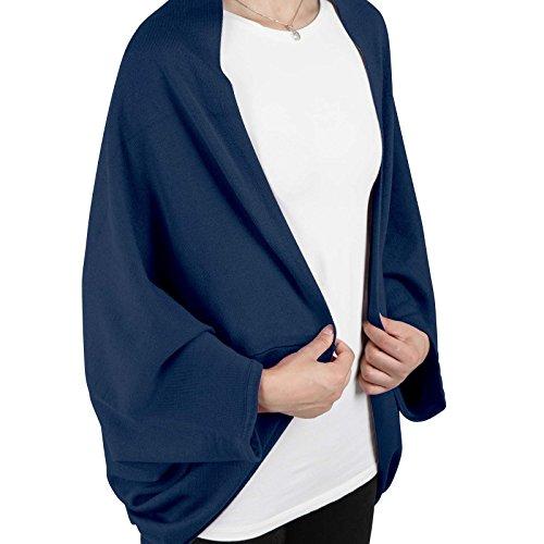 Jago pour Coloris Gilet Femmes Bleu Cardigan Manches Chauve au a Longues Veste Choix Souris ArqCZSA