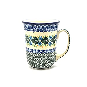 Polish Pottery Bistro Mug – 16 Oz – Ivy Trail