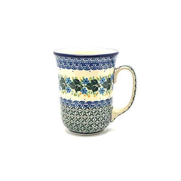 Polish Pottery Bistro Mug – 16 Oz – Ivy Trail
