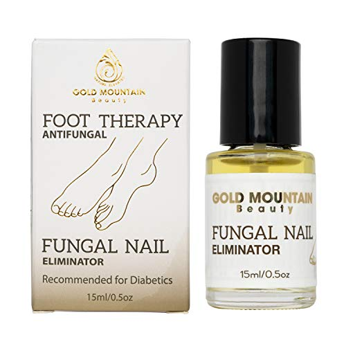 Gold Mountain Beauty Fungal Nail Eliminator with Tolnaftate and Puredia SeaBerry, Foot Therapy Antifungal Treatment for toenail Fungus formulated by a Physician, Brush On Oil, 0.5oz - Nail Antifungal Cream