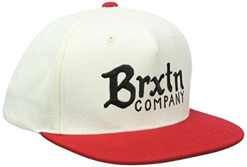 Brixton, casquette Off White/Rouge Taille Unique