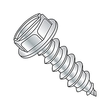1//2 Length Type AB Pack of 100 Pack of 100 1//2 Length Slotted Drive Zinc Plated Small Parts 0608ABSW Steel Sheet Metal Screw Hex Washer Head #6-20 Thread Size