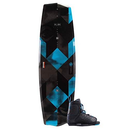 Hyperlite 2019 State 2.0 Wakeboard 145 Black with Blue Remix Boots 10-14