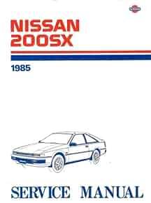1985 nissan 200sx service manual nissan motor company amazon com rh amazon com nissan 200sx s14 service manual nissan 200sx manual