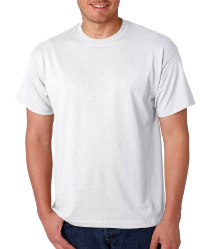 Gildan - DryBlend 50 Cotton/50 DryBlendPoly T-Shirt. 8000 - White_5XL (Plain White Tees T-shirts)