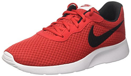 Nike Men Tanjun Trainers Orange (Bright Crimson/White/Black)