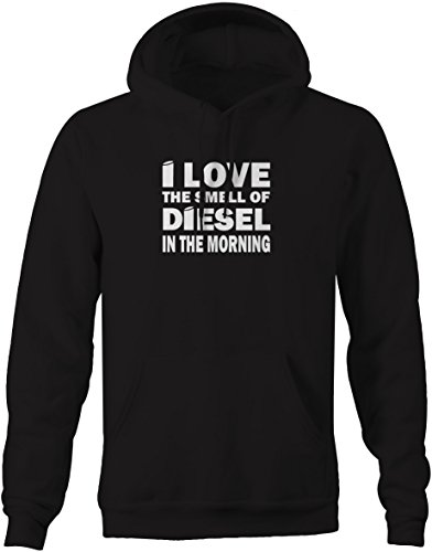 I Love the Smell of Diesel- Stacks Trucker Black Smoke Sweatshirt - Large (Cummins Diesel Sweatshirt compare prices)