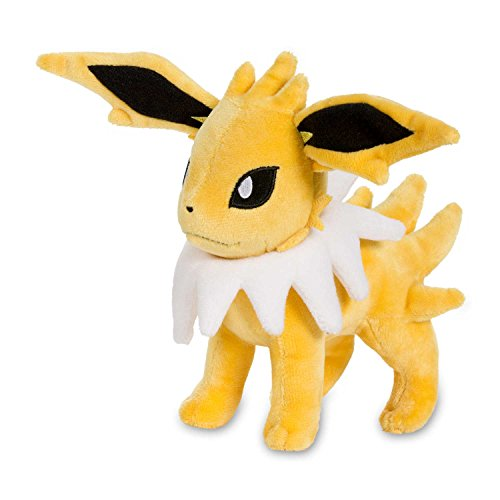 Pokemon Cards Jolteon Poke Plush (Standard), Yellow, 7 1/4
