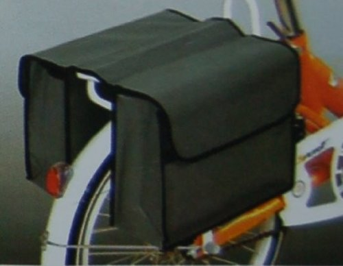 Gepäckträger-Doppeltasche Fahrradtasche grau