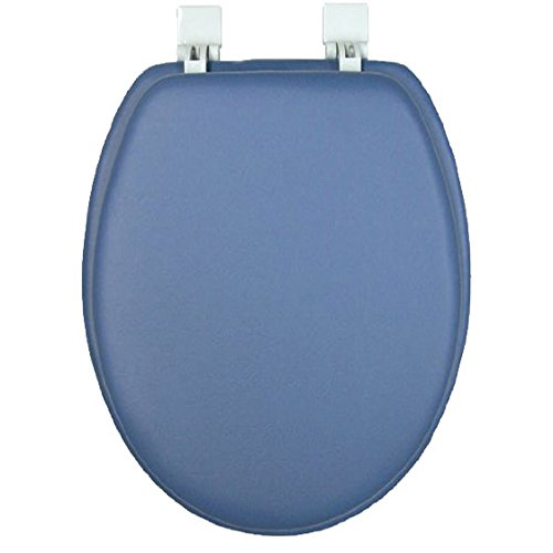 NGATED CUSHION SOFT PADDED TOILET SEAT - SMOKE BLUE ()