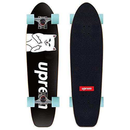 GAOY Skateboard Skateboards Deck Débutants Double Kick Planches à Roulettes En érable Mini Cruiser PU Roues Pour Adult Kids Débutants Longue Planche,A