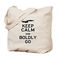 CafePress - Keep Calm And Boldly Go - Natural Canvas Tote Bag, Cloth Shopping Bag from CafePress