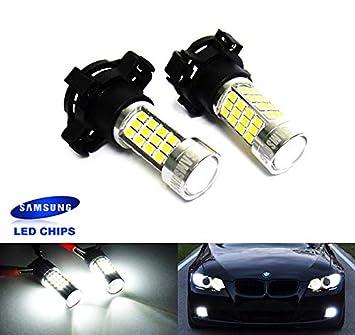 2 bombillas blancas PY24W PSY24W para Samsung LED luz lateral Indicador DRL para A4 B8 E90 E91 E92 F10 F25 E70 E71 Discovery 4: Amazon.es: Coche y moto
