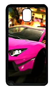 Note 3 Case, Galaxy Note 3 Case, [Perfect Fit] Soft TPU Crystal Clear [Scratch Resistant] Lamborghini Aventador Lp700 Cute Back Case Cover for Samsung Galaxy Note 3 N9000 Cases