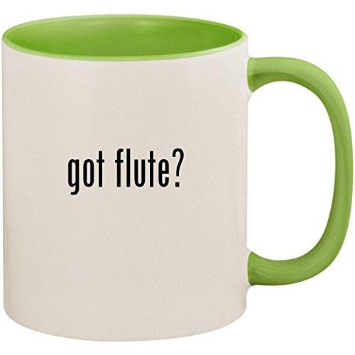 got flute? - 11oz Ceramic Colored Inside and Handle Coffee Mug Cup, Light ()