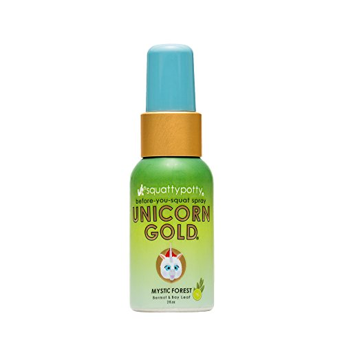 Squatty Potty Unicorn Gold Toilet Spray, Log Cabin Mystic Forest 2 oz