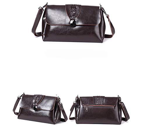 Sac Main Cire Hongge Fashion chaîne Pochette épaule B Messenger Cuir à Unique Cuir B55q4C