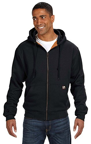 Dri Duck Men's Crossfire Thermal-Lined Fleece Jacket, Small, Black