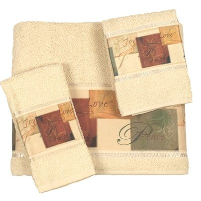 ''Tranquility'' Bathroom Shower Collection - Set of 3 Fingertip Towels